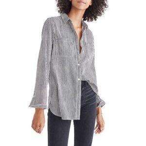Madewell Ex-Boyfriend Flannel Shirt / Night Vision